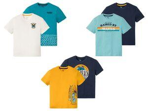 PEPPERTS® T-Shirt Jungen, 2 Stück, mit Sommer-Print, aus reiner Baumwolle
