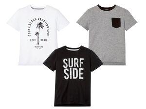 PEPPERTS® Kinder T-Shirt Jungen, mit Seitenschlitz, verlängerte Rückseite, mit Baumwolle