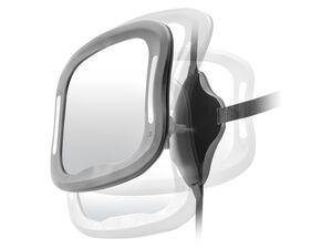 Reer Auto-Sicherheitsspiegel mit Licht »BabyView«, große, gewölbte Spiegelfläche
