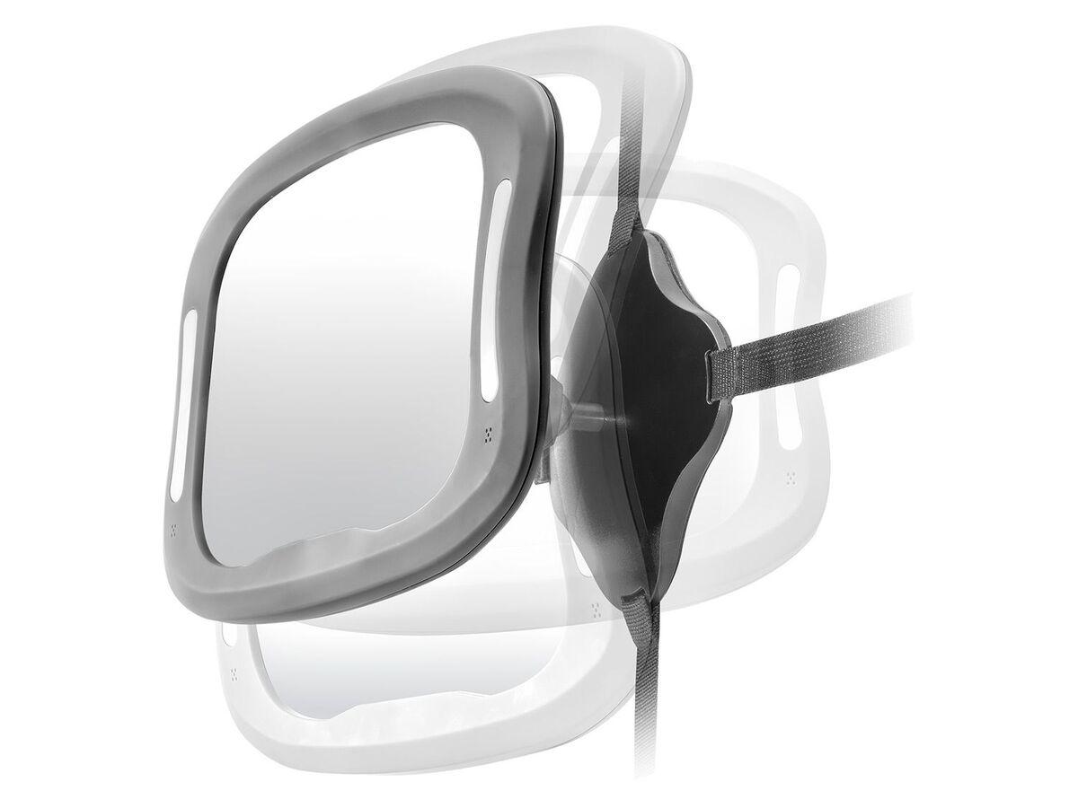 Bild 1 von Reer Auto-Sicherheitsspiegel mit Licht »BabyView«, große, gewölbte Spiegelfläche