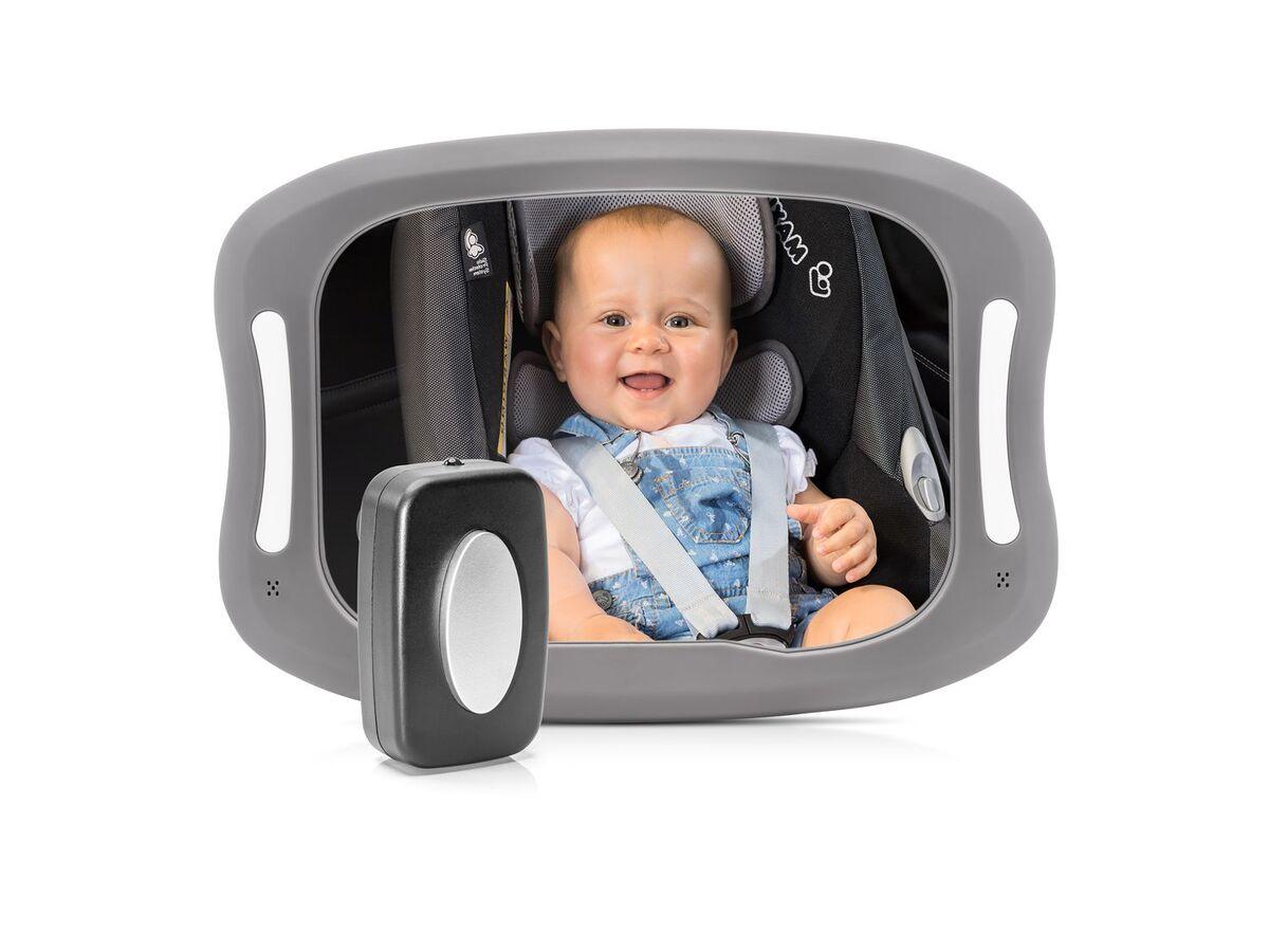 Bild 2 von Reer Auto-Sicherheitsspiegel mit Licht »BabyView«, große, gewölbte Spiegelfläche