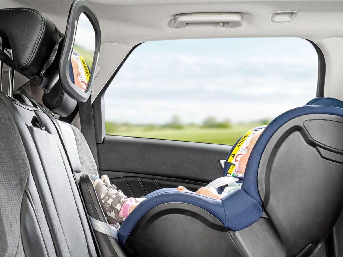 Bild 4 von Reer Auto-Sicherheitsspiegel mit Licht »BabyView«, große, gewölbte Spiegelfläche