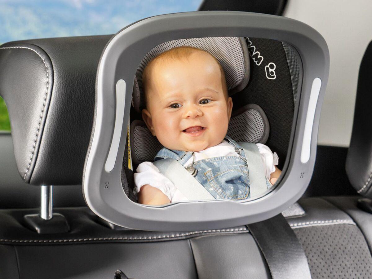 Bild 5 von Reer Auto-Sicherheitsspiegel mit Licht »BabyView«, große, gewölbte Spiegelfläche