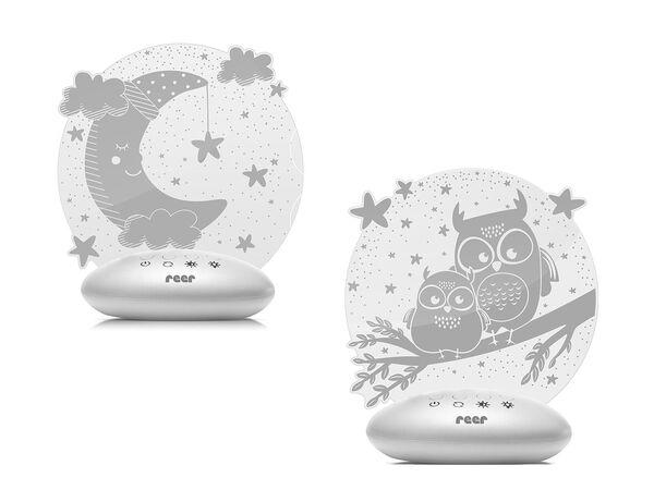 Reer LED Nachtlicht »Colour Lumy«, mit Farbwechsel, kindgerechte Motive Eule oder Mond