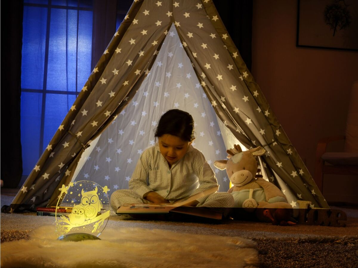 Bild 4 von Reer LED Nachtlicht »Colour Lumy«, mit Farbwechsel, kindgerechte Motive Eule oder Mond