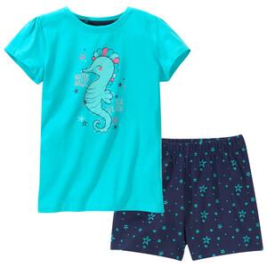 Mädchen Shorty mit Seepferdchen-Motiv