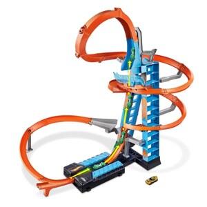 Hot Wheels Himmelscrash Turm inklusive 1 Spielzeugauto