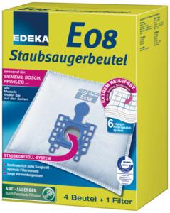 EDEKA Staubsaugerbeutel E08 4 Stück