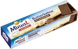 Minus L Butterkekse mit Schokolade 125 g