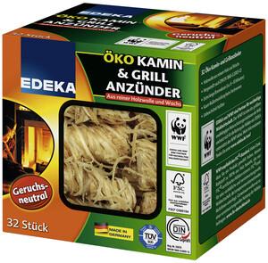 EDEKA Öko Kamin & Grill Anzünder 32 Stück