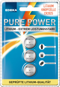 EDEKA Lithium Knopfzellen CR 2025 3 Stück