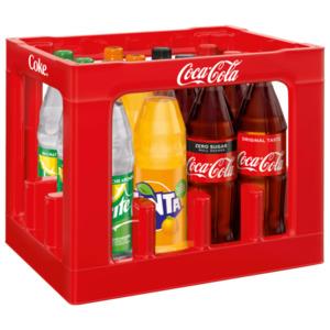Coca-Cola, Coca-Cola Zero, Fanta oder Sprite Mischkasten