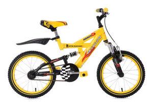 KS Cycling Kinderfahrrad Fully Kinder-Mountainbike 16 Zoll Krazy