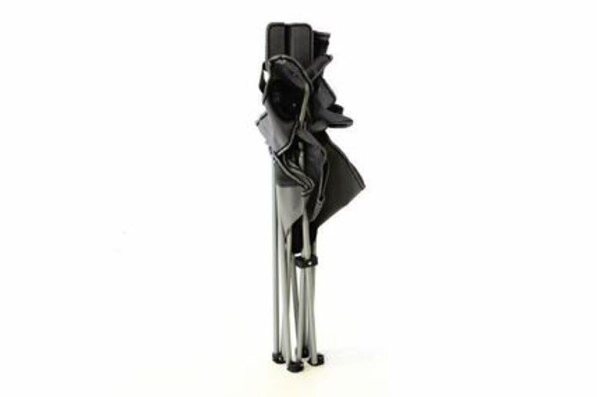 Bild 2 von Vcm Campingstuhl Faltstuhl grau schwarz mit Armlehne Getränkehalter Angelstuhl,
