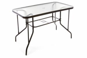 Vcm Bistrotisch Gartentisch Balkontisch - Rahmen braun - 110 cm eckig mit