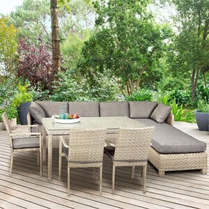 Rattan Set grau links1