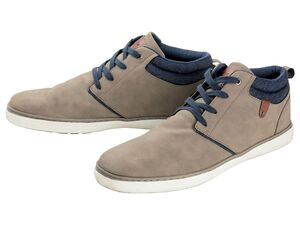 LIVERGY® Sneaker Herren, mit Fersenlasche, Schnürung, angenehmer Tragekomfort