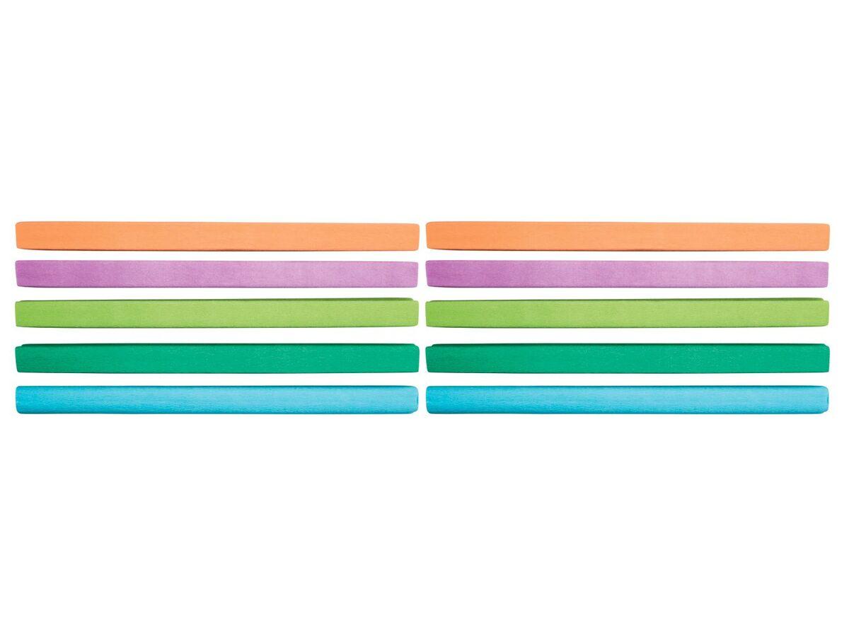 Bild 1 von CRELANDO® Krepppapier, 20 Rollen, je 2 m Länge, dehnbar