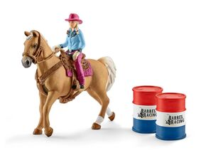 Schleich 41417 »Barrel racing mit Cowgirl«, mit Zubehör, ab 3 Jahren