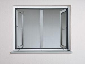 Insektenschutz, für Fenster, 100 x 120 cm, Fiberglasgewebe, extra flache Einbautiefe