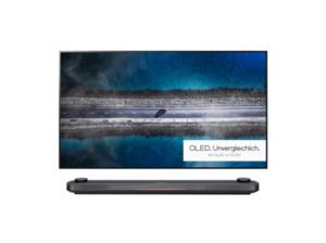 LG SIGNATURE OLED65W9PLA,  OLED TV, Schwarz