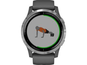 GARMIN Vivoactive 4 Smartwatch kaufen. Armband: Silikon, k.A., Farbe Dunkelgrau/Silber | SATURN