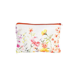 Kosmetiktasche Floral, L:24cm x H:17cm, bunt