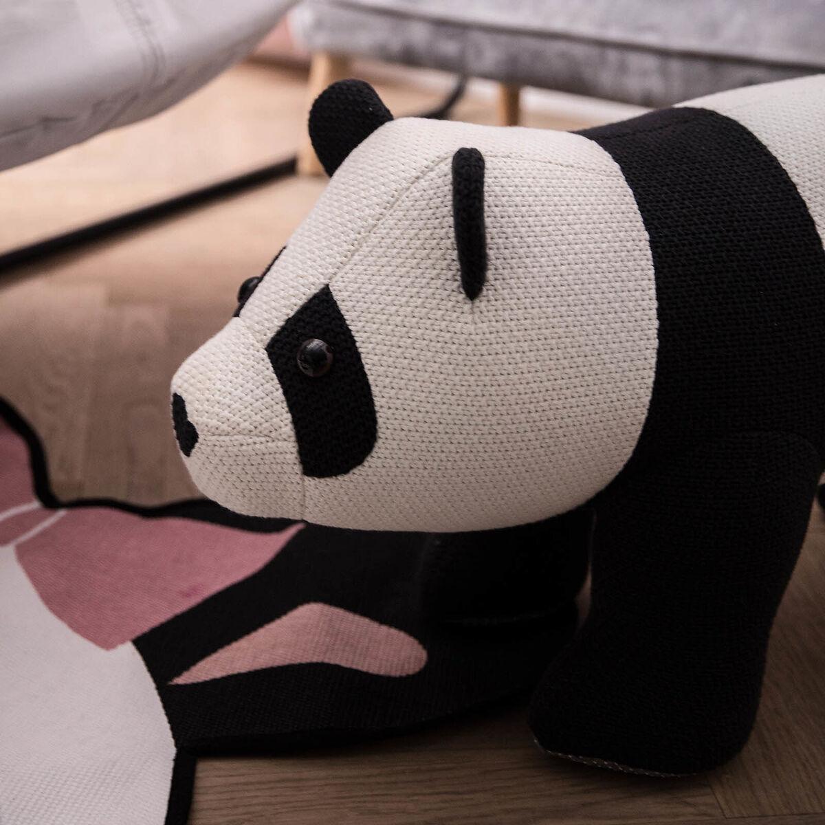 Bild 1 von Hocker Panda, 80x35x40cm, weiß