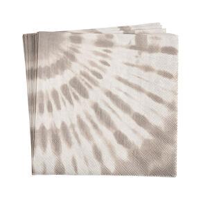 Serviette Batik, FSC® Mix, 20 Stück, taupe