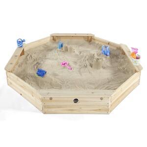 Plum Sandkasten 8-eckig Holz mit Sitzfläche
