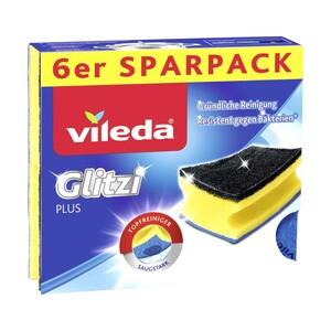Vileda Topfreiniger Glitzi Plus 6er, Schwammtuch Original 5er oder Scheuerspirale 3er, jede Packung