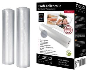Caso Folienrollen für Vakuumierer 6 Sterne 20 x 600 cm