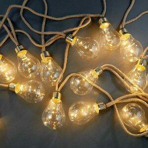 BULB LIGHTS Glühbirnenlichterkette 15 Lichter mit Stecker
