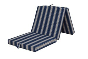 Ortho-Vital Klappmatratze, Blau mit Streifen