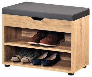 Kesper Schuhschrank mit Sitzkissen, Sonoma Eiche