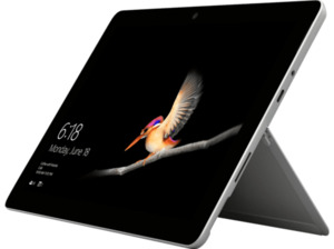 MICROSOFT Surface Go Pentium® Gold 4415Y, 128 GB SSD, 8 GB RAM, Silber, Windows 10 im S Modus