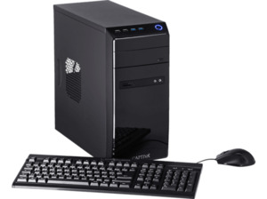 CAPTIVA POWER-Starter I48-614, Desktop PC, Celeron® Prozessor, 16 GB RAM, 240 GB SSD, 1 TB HDD, Intel® UHD-Grafik 610, Schwarz