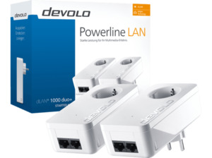 Powerline Adapter DEVOLO 8110 dLAN® 1000 duo+ Starter Kit 1000 Mbit/s kabelgebunden