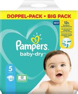 Pampers Windeln baby-dry Größe 5 (11-16 kg) Doppelpack