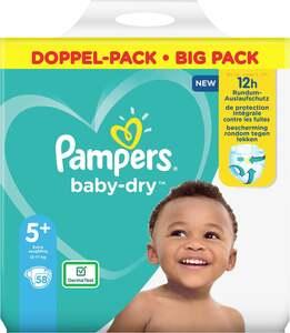 Pampers Windeln baby-dry Größe 5+ (12-17 kg) Doppelpack