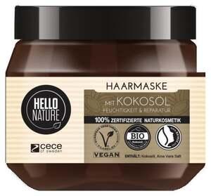 Hello Nature Kokosöl Haarmaske Feuchtigkeit & Reparatur
