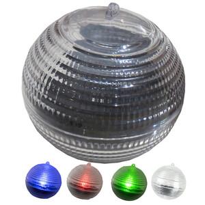 LED Solar Schwimmkugel Ø 8 cm aus Kunststoff