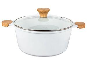 ERNESTO® Kochtopf, 3,5 l Fassungsvermögen, mit Glasdeckel, spülmaschinengeeignet