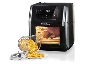 SILVERCREST® 9-in-1 Heißluftfritteuse, 1800 Watt, mit 9 Programmen und Easy-Touch-Display