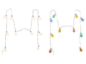 MELINERA® LED Lichterkette, mit 10 Glühbirnen, 20 Lumen, spritzwassergeschützt