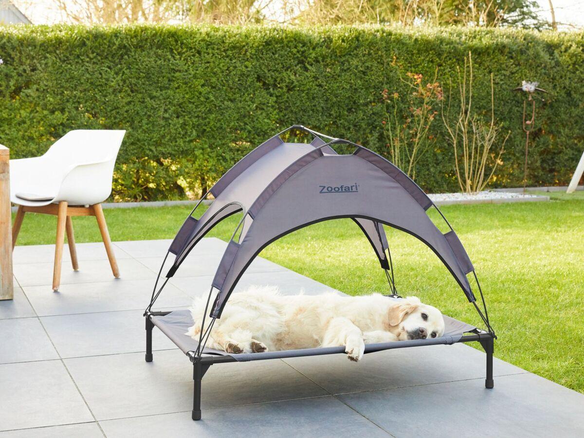 Bild 2 von ZOOFARI® Hundebett, abnehmbares Sonnendach, UV-Schutz, 60 kg Belastbarkeit