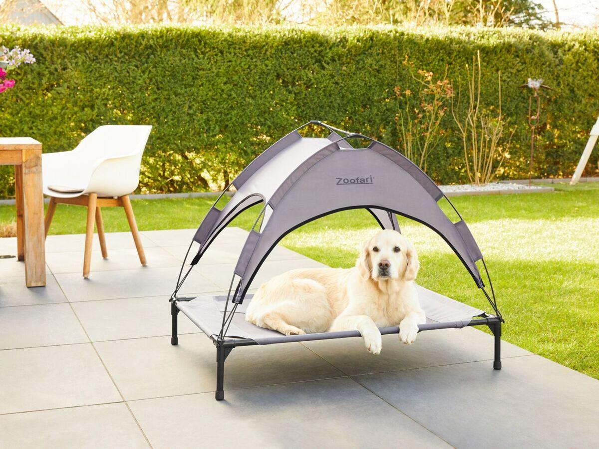 Bild 5 von ZOOFARI® Hundebett, abnehmbares Sonnendach, UV-Schutz, 60 kg Belastbarkeit