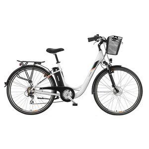 """Telefunken Multitalent RC820 28"""" Alu City E-Bike 7-Gang Kettenschaltung reinweiß"""