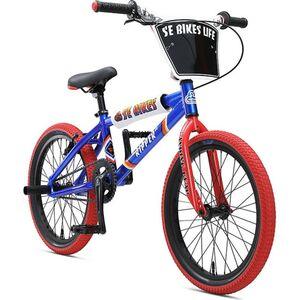 """SE Bikes Ripper 2020 20 Zoll BMX Rad Oldschool Freestyle BMX Bike Fahrrad 20"""" Street... blau"""