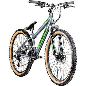Galano G600 26 Zoll Dirtbike MTB Mountainbike Fahrrad Dirt Bike 18 Gang Rad... grau/grün